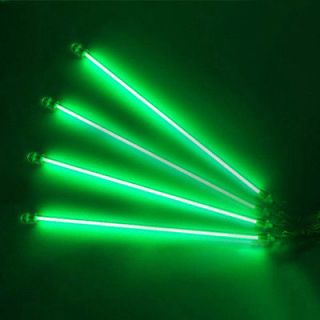 4X12 Green CCFL Cold Cathode UnderCar Neon Lights Underbody Lamps US