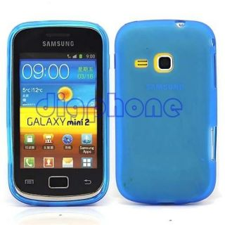 Blue Matte TPU Silicone Gel Case Cover For Samsung Galaxy Mini 2 S6500