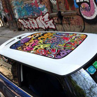 BMW MINI COOPER Car Sun Roof Street Art Graffit Graphic Vinyl Sticker