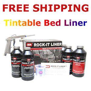 sem urethane tintable 2k spray in truck bed liner kit