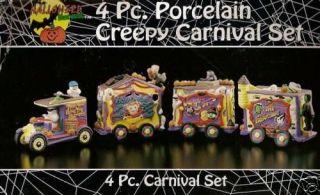 CREEPY CARNIVAL 4 Ghost Caravan Set Monster Halloween Frankenstein