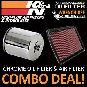 kn air filter chrome oil filter honda rc51