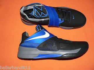 mens nike zoom kd iv shoes new 473679 006 black