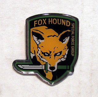 metal gear fox hound special force group metal pin time