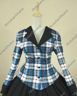 Civil War Victorian Tartan Ball Gown Dress Prom Reenactment 122 M