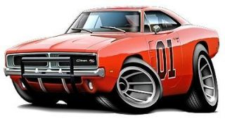 General Lee Cartoon Car 440 4 Speed Wall Graphic Decal Man Cave Boys