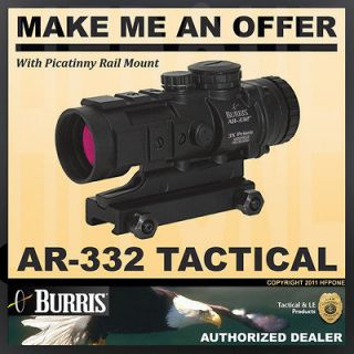 Burris 300208 AR 332 Tactical Riflescope With Picatinny Mount
