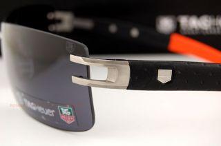 TAG Heuer Sunglasses L TYPE LW 0451 126 CALFSKIN BLACK/ORANGE for Men