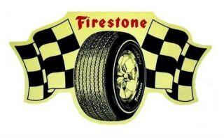 vintage firestone racing tires vinyl decal sticker 7 time left