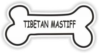 TIBETAN MASTIFF BONE STICKER BREED NAME DOG FOOD BOWL PUPPY PET VINYL