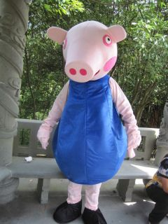 pretty peppa pig adult mascot costume fancy from china time
