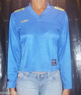 newly listed blue 05 fubu long sleeve knit jersey time