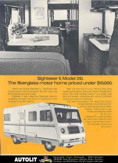 1973 sightseer ii model 210 dodge motorhome rv brochure time