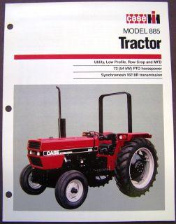Case   International Harvester Model 885 Tractor Brochure Spec Sheet