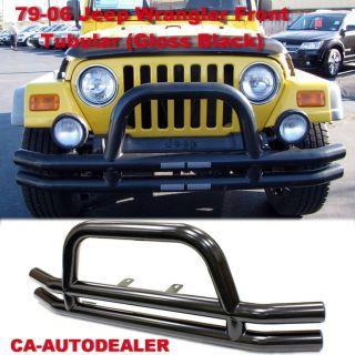 79 06 Jeep Wrangler Front Bumper Tubular Gloss Black Grill Guard CJ 5
