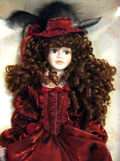 Dan Dee Collectors Choice 22 Handcrafted Porcelain Doll w/Maroon