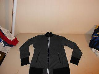 Cycling Running Jacket Reflective Merino Wool Grey 260 Womens Medium
