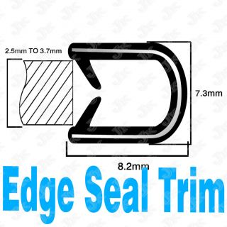 FOOT RUBBER SEAL DOOR EDGE TRIM MOLDING 7.3mm  02