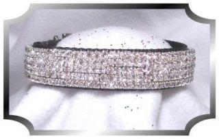 Sparkle on Black Velvet~ Crystal Rhinestone Dog Collar Blingy #316