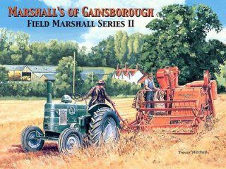 FIELD MARSHALL SERIES 2 VINTAGE TRACTOR AND BINDER FARM SCENE METAL