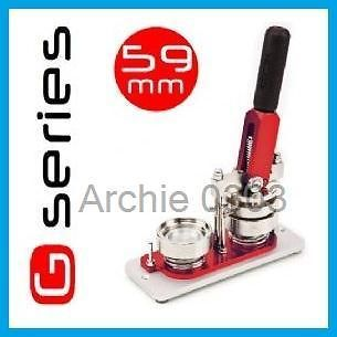 59mm G SERIES BUTTON PIN BADGE MACHINE MAKER + 500 COMPONENTS