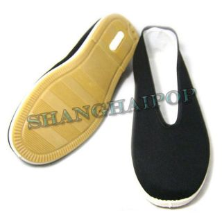 Chinese Martial Art Shoes Kung Fu Tai Chi Taiji Cotton Slipper Black