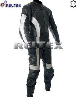 Silver Blade Runner Pro Biker Leather Motorcycle Motorbike Jacket Pant