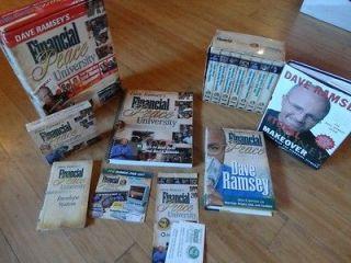 DAVE RAMSEYS FINANCIAL PEACE UNIVERSITY 16 AUDIO CDS BOX SET + EXTRAS