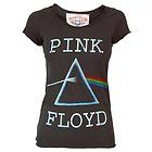 Amplified Womens Pink Floyd Dark Side of the Moon T Shirt Charcoal