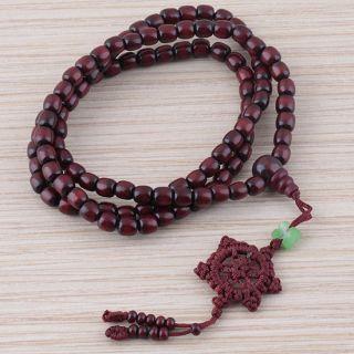 rosewood Buddhist Buddha Meditation Jade 6mm x 108 Prayer Beads Mala