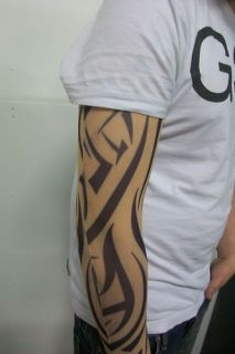 fake tattoo sleeve cloth arm design orange tribal t4 from