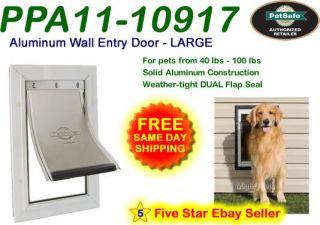 Petsafe LARGE Premium WALL MOUNT Aluminum Pet Dog Cat Door PPA11 10917
