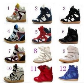 Free shipNEW ISABEL MARANT Wedge Sneaker casual shoes boots EUR35 41
