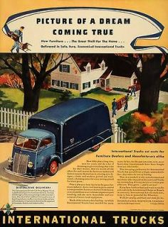 1940 Ad D 300 Cab Over Engine International Harvester   ORIGINAL