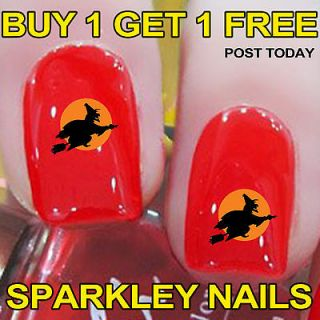 Newly listed 20 Witch Halloween Nail Art Decals Stickers Water