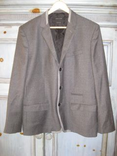 Marc Jacobs dark gray virgin wool jacket size 50 made in Italy