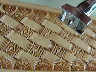 Pro Crafters Series   Diamond Basket Weave Stamp (Leather Stamping