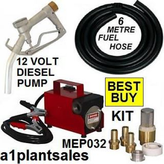 12V Diesel Oil Fuel Transfer Pump Kit Heavty Duty V 12 Volt
