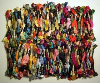 Lot 200 Skeins DMC Embroidery Floss Thread 100% Cotton NEW Assortment