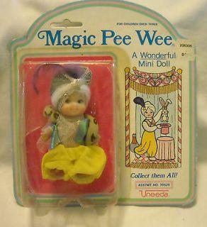 uneeda magic pee wee mini magician doll in package 1986