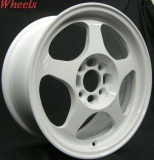 rota slipstream 15x6 5 4x100 40 white rims wheels