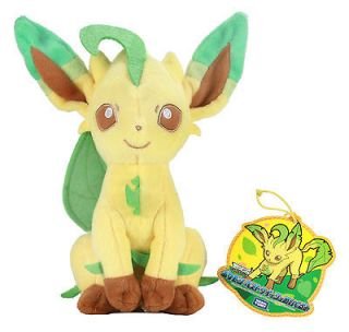 New Real 8.5 Leafeon / Leafia  N 48  Pokemon Best Wishes Plush Doll