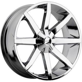 slide chrome wheels rims 6x5.5 6x139.7 gx460 470 lx450 armada titan