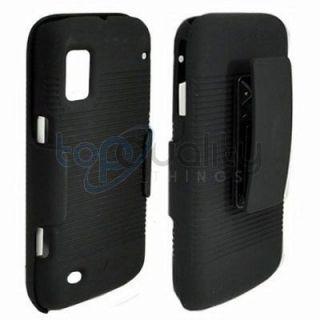 Black Shell Holster Belt Clip Case for Boost Mobile ZTE Warp N860