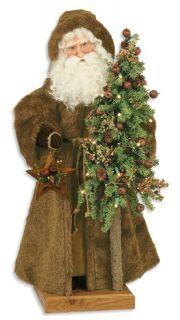 27 Table Top Ditz Rustic Brown Father Christmas Santa Claus Christmas