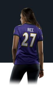 Ray Rice Womens Football Home Limited Jersey 469859_567_B_BODY
