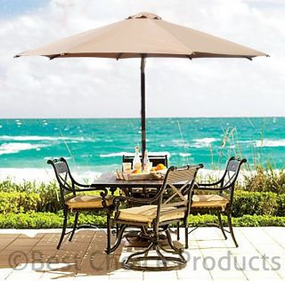Patio Umbrella 9 Outdoor Market Umbrella Beach Solid Wood