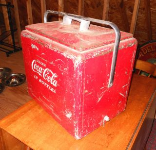 Vintage 1940s 1950s Coca Cola Cooler