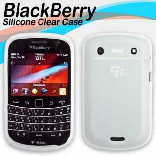 Clear Soft Silicone Skin Cover Case Protector for Blackberry Bold 9900