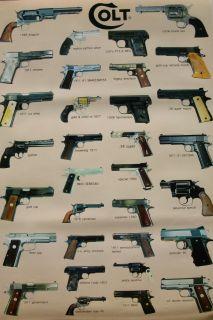 Colt Pistols Handguns Poster from Asia Guns Revolvers